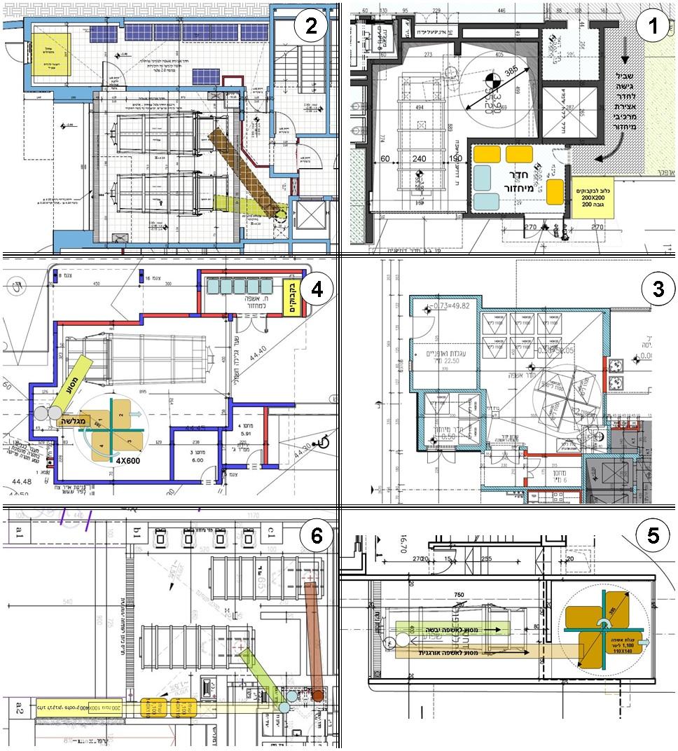 תכניות מגורים רבי קומות עם הפרדה ל- 2 זרמים